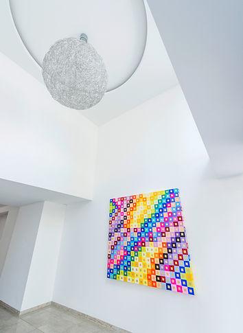 Kunstvoll gestalteter Eingangsbereich des K2 Bürocenter in Dortmund. K2 Bürocenter in Dortmund, Büro und Ausstellungsflächen mieten, Gewerbefläche mieten, Praxis mieten