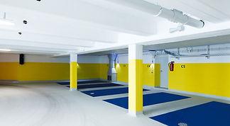 Parkplätze des K2 Bürocenter in Dortmund. K2 Bürocenter in Dortmund, Büro und Ausstellungsflächen mieten, Gewerbefläche mieten, Praxis mieten, Parkplatz und Parkflächen