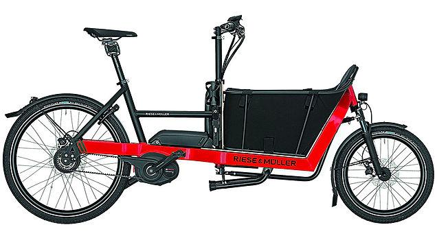 Foto eines Riese und Müller Lastenrad Packster 40