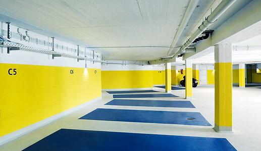 Parkflächen des K2 Bürocenter in Dortmund. K2 Bürocenter in Dortmund, Büro und Ausstellungsflächen mieten, Gewerbefläche mieten, Praxis mieten, Parkplatz und Parkflächen