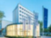 Aussenansicht des K2-Bürocenter in Dortmund. Mit dem K2 Bürocenter® wurde im Jahre 2012 ein exzellenter Dienstleistungsstandort inPremium-Lage mit optimaler Infrastruktureröffnet.Das K2 Bürocenter® bietet den effizienten und zugleich repräsentativen Raum für erfolgreiche Dienstleister.