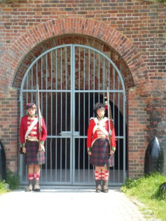 Guard duty at Fort Amherst Chatham