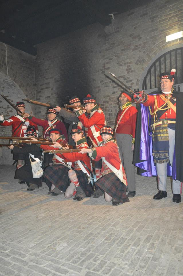 Drill Day at Fort Amherst