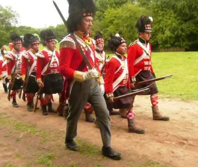Off to battle at Waterloo