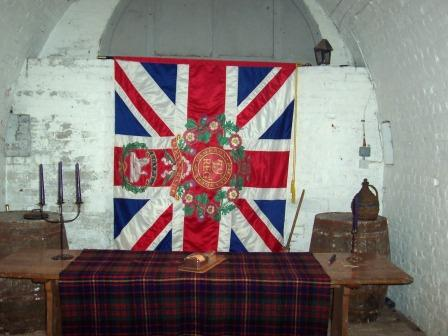 Our colours at Fort Amherst 2007