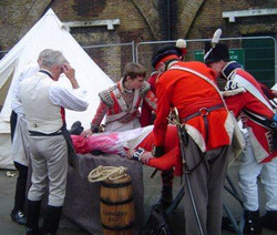 Surgery by the 1st Foot Guards