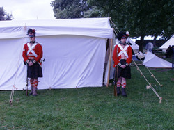 Standing guard outside Wellingtons tent at Waterloo.