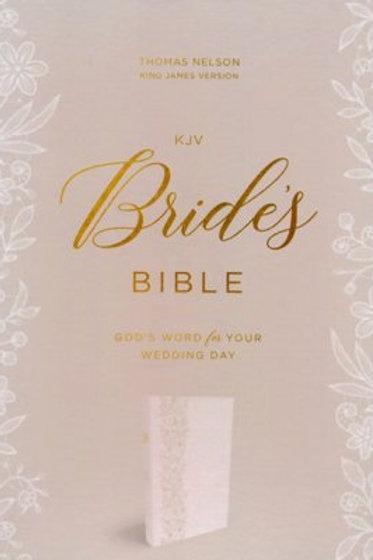 KJV Bride's Bible, Leathersoft, White, Comfort Print