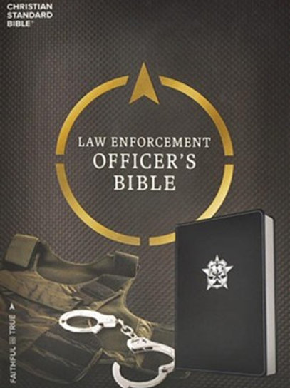 CSB Law Enforcement Officer's Bible, Black LeatherTouch