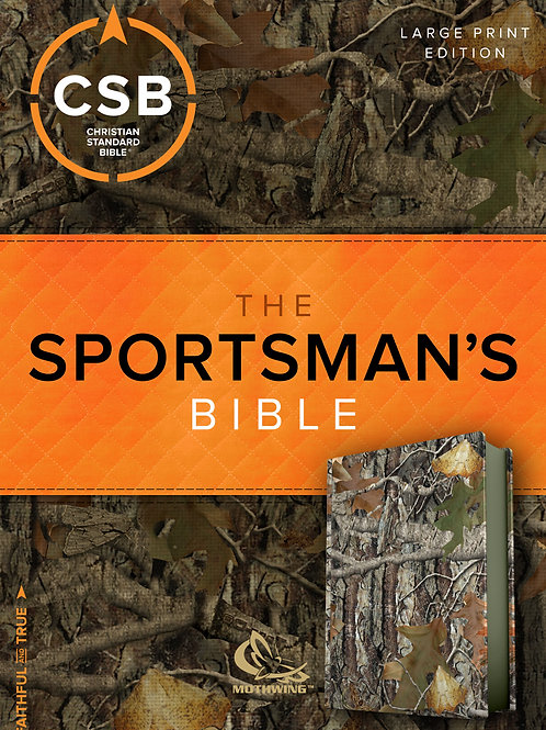 CSB Sportsman's Personal Size, LG Print, Soft leather-look, Mothwing Camouflage