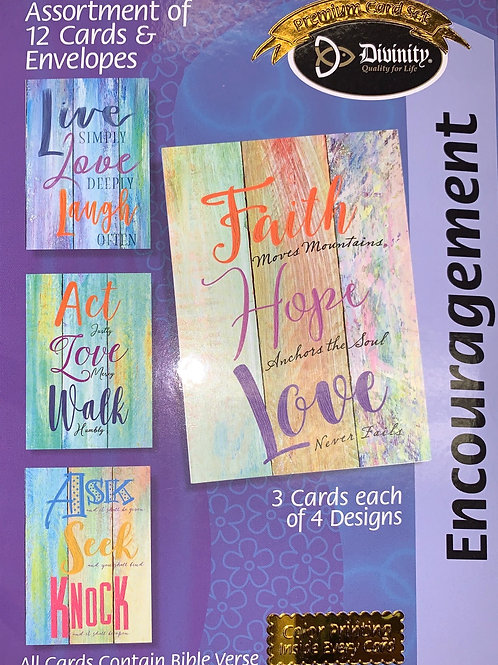 Encouragement Cards, NKJV, Wood Acrylic Art, Box of 12