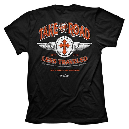 Take The Road Less Traveled T Shirt Short Sleeve Tee Shirt Kerusso