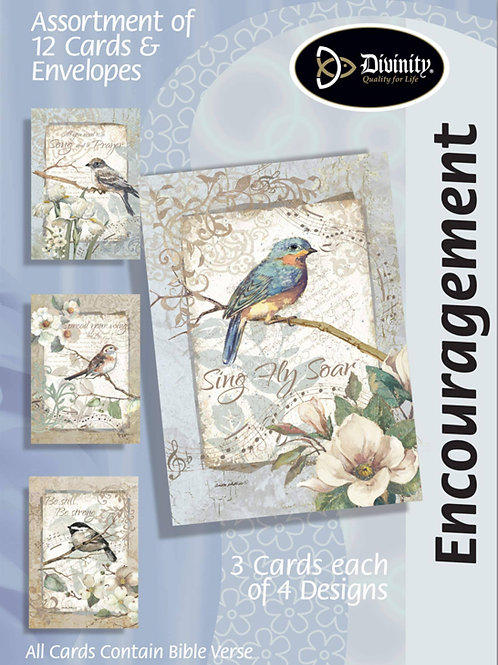 Encouragement Cards, NKJV, Birds & Music, Box of 12