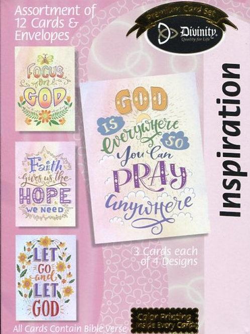 Inspiration Cards, NKJV, Lean on Him, Box of 12