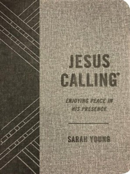 Jesus Calling Gift Edition--soft leather-look, gray by Sarah Young