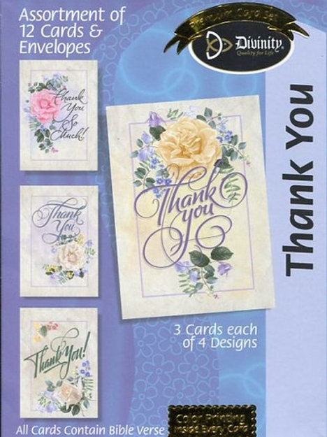 Thank You Cards, NKJV, Roses, Box of 12