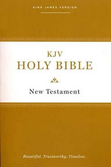 KJV Holy Bible New Testament--paperback, multicolor