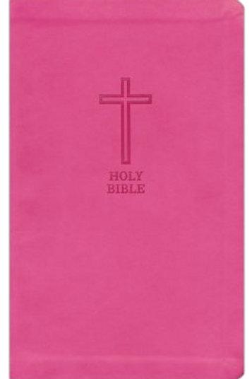 KJV, Value Thinline Bible, Standard Print, Imitation Leather, Pink, Red Letter