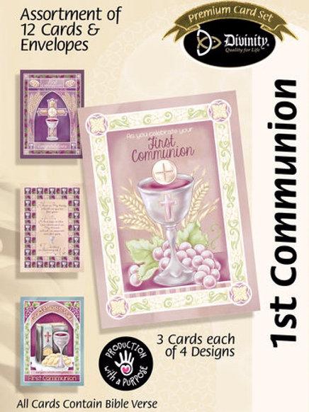 1st Communion Cards, KJV, Box of 12