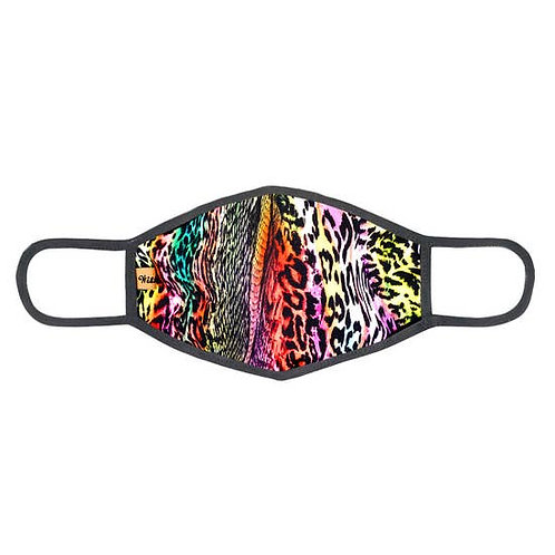 Face Mask Multicolor Animal Print