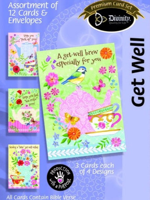 Get Well Cards, KJV, Tea & Coffee, Box of 12