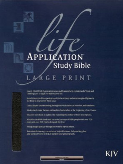 KJV Life Application Study Bible 2nd Edition, Large Print, Bonded leather, black