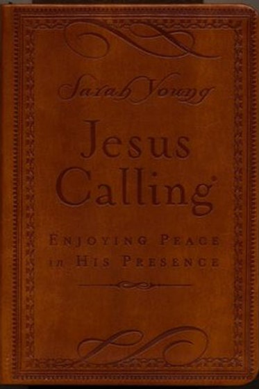Jesus Calling, Deluxe Edition--soft leather-look, brown by Sarah Young
