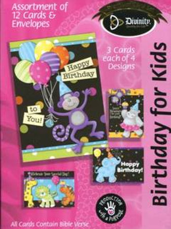 Birthday For Kids Cards, Box of 12
