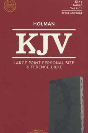KJV Lg. Print Personal Size Ref. Bible,Charcoal Leathertouch Imitation,Indexed