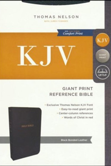 KJV Reference Bible, Giant Print, Black Bonded Leather, Indexed