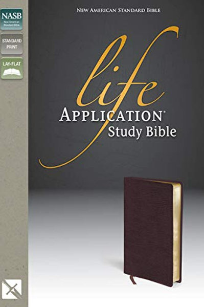NASB Life Application Study Bible, Standard Print, Burgundy Bonded Leather