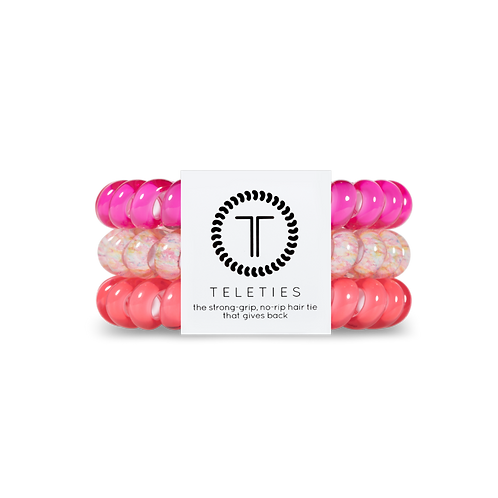 Large Teleties Pink Punch Pack of 3