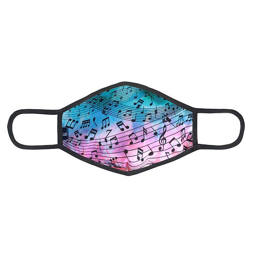 Face Mask Neon Teal Pink Tiedye Note Sheet