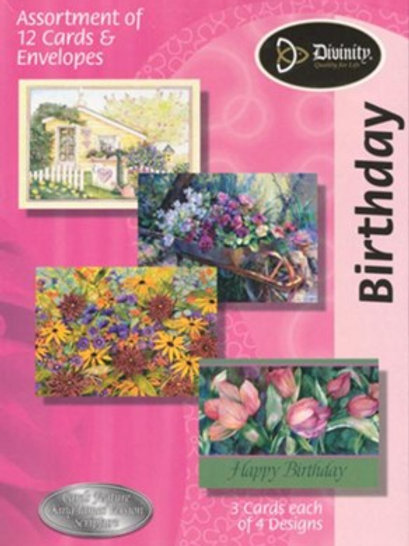 Birthday Cards, KJV, Garden, Box of 12