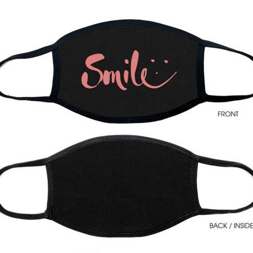 Face Mask Smile Black