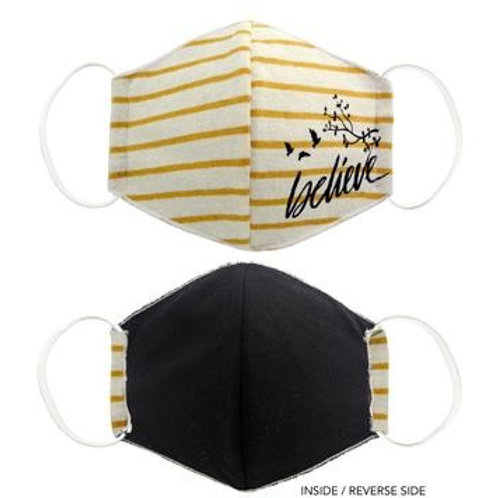 Face Mask Believe Yellow Striped