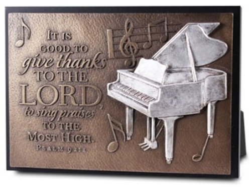 It is Good To Give Thanks to the Lord to Sing Praises to the Most High Plaque
