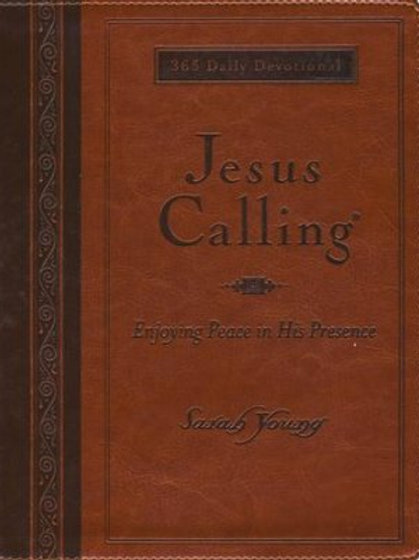 Jesus Calling, Large Print, Deluxe Edition - Imitation Leather, Amber by Sarah Y