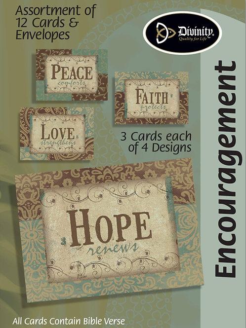Encouragement Cards, NKJV, Faith, Hope, Peace, & Love, Box of 12