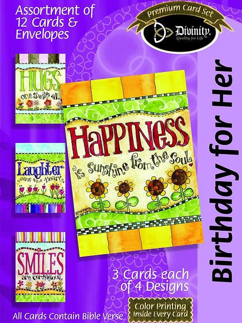 Birthday For Her Cards, KJV, Box of 12