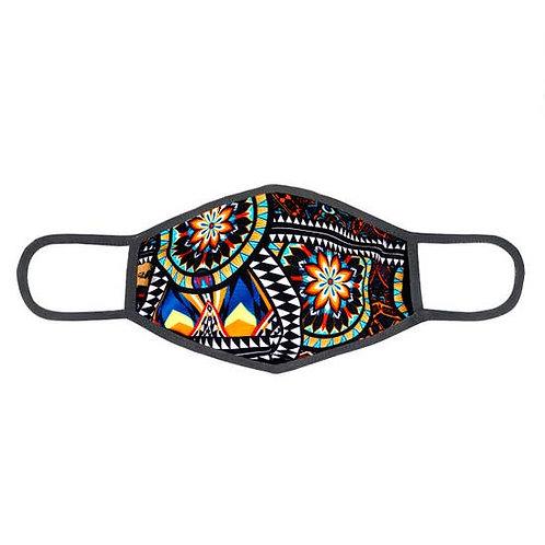 Face Mask Multicolor Geometric Floral