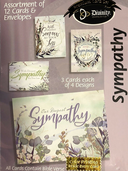 Sympathy Cards, KJV, Lavender, Box of 12