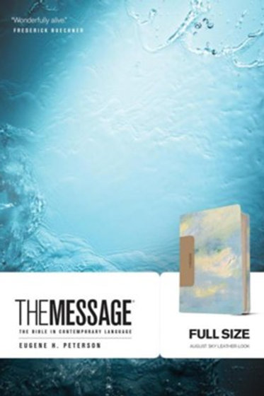 The Message Bible, Soft leather-look, sky blue