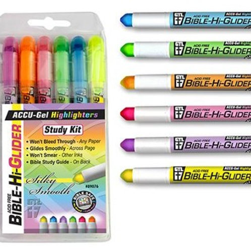 Accu Gel Highlighters Bible Study Kit 6 Pack