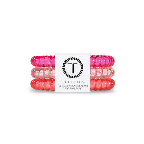 Small Teleties Pink Punch Pack of 3