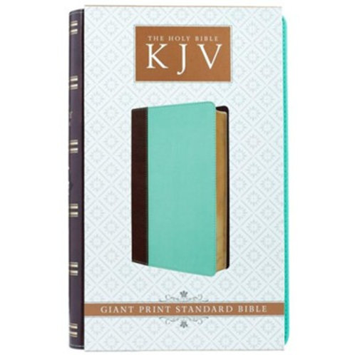 KJV Giant Print Lux-Leather Teal/Brown
