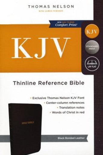 KJV Thinline Reference Bible, Bonded Leather, Black Indexed