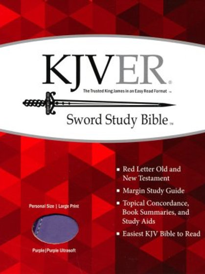 KJVer (Easy Reader) Lg Print Sword Study Bible, Personal Size, Ultrasoft Purple
