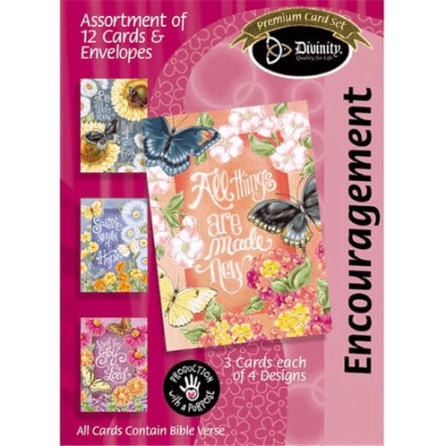 Encouragement Cards, Butterfly Garden Cards, Box of 12
