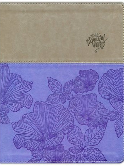 NIV, Beautiful Word Coloring Bible, Large Print, Imitation Leather, Purple and T